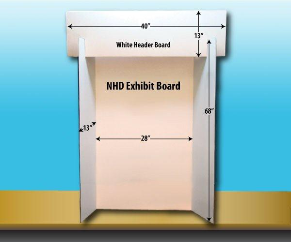 NHD Exhibit Boards (1 pack of 10) | National History Day | NHD