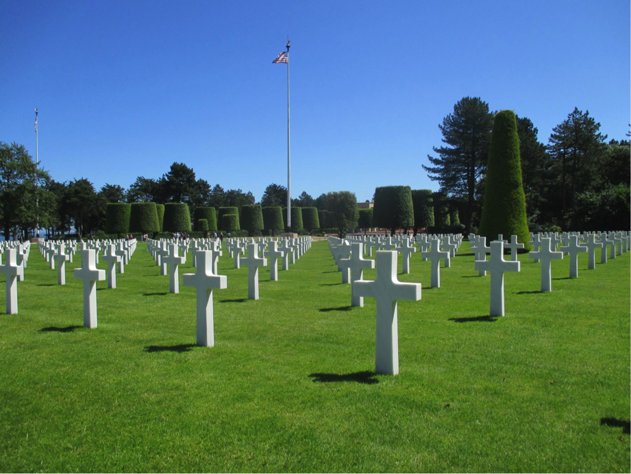 Normandy American Cemetery in France