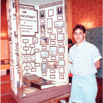 Jon Gillum with his Individual Exhibit in 1992.
